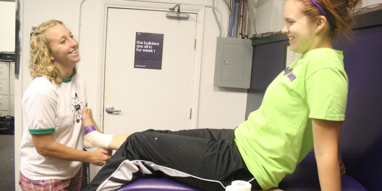 Athletic trainer works for all-around success