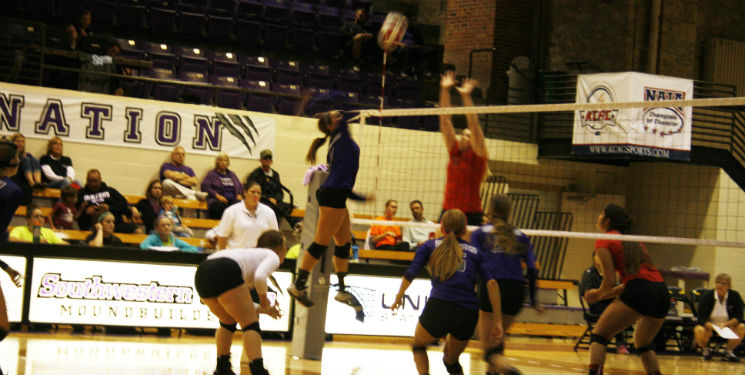 Crowd backs volleyball on first home win