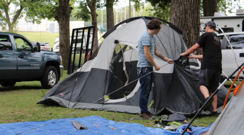Campers continue settling in at campgrounds