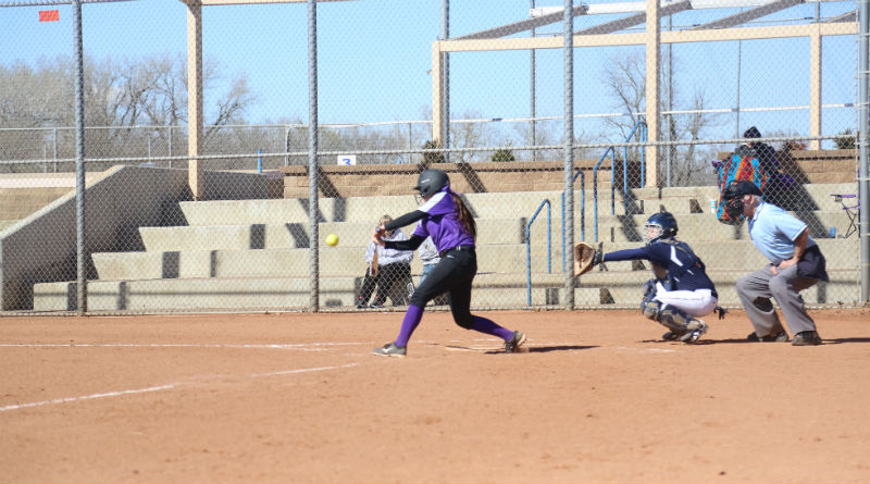 Builder softball splits double-header against Peru State