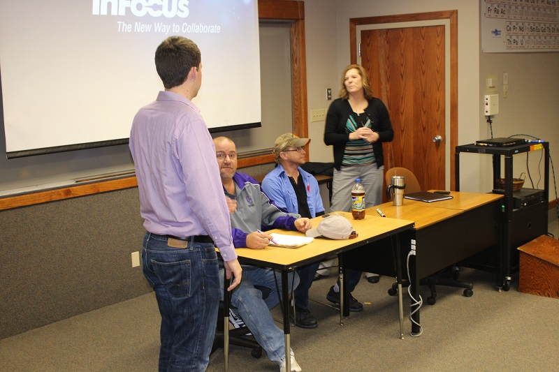 Maintenance answers questions and concerns of students and faculty