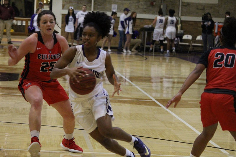 Women's basketball bulldogged by McPherson