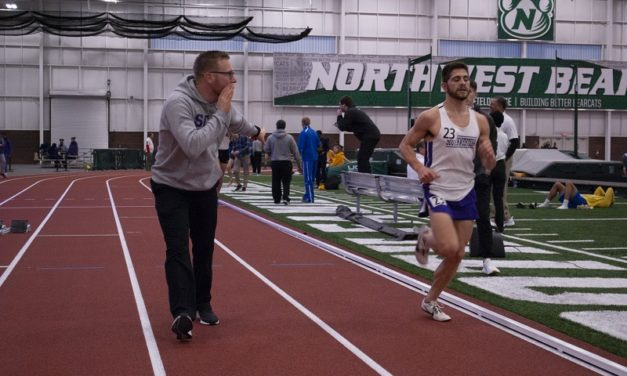 Men's track breaks new records