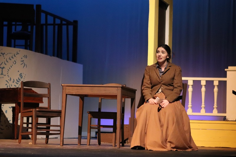Raynee Case musical theatre sophomore performs her first solo for Little Women.  Case played the role of Jo March.(Emily Berry/Staff photographer)