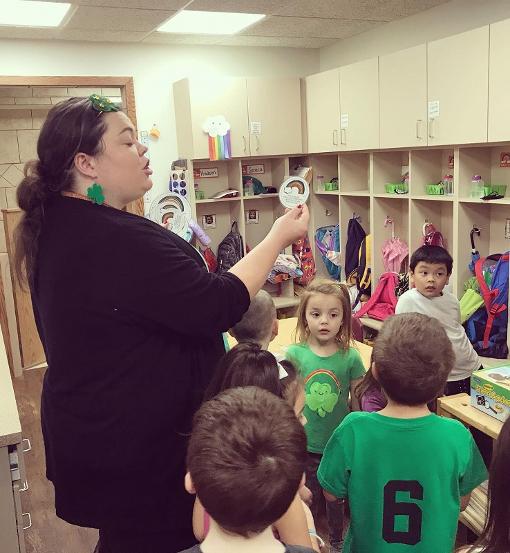ABOVE: Tabatha Rosproy, alumna, leads her intergenerational classroom, the Cumbernauld Little Vikes. Rosproy graduated from Southwestern in 2009 with a degree in early childhood unified. (Contributed photo)