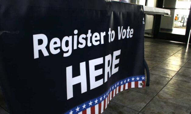 Voter registration takes place on campus