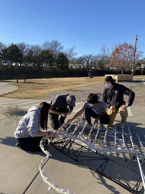 Many SC students spent hours of their free time working to make the Isle of Lights possible for the city of Winfield. This event will be open nightly from November 22 through December 30. (Mallory Graves/Staff photographer)