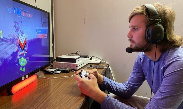 Students immerse themselves in video games for entertainment